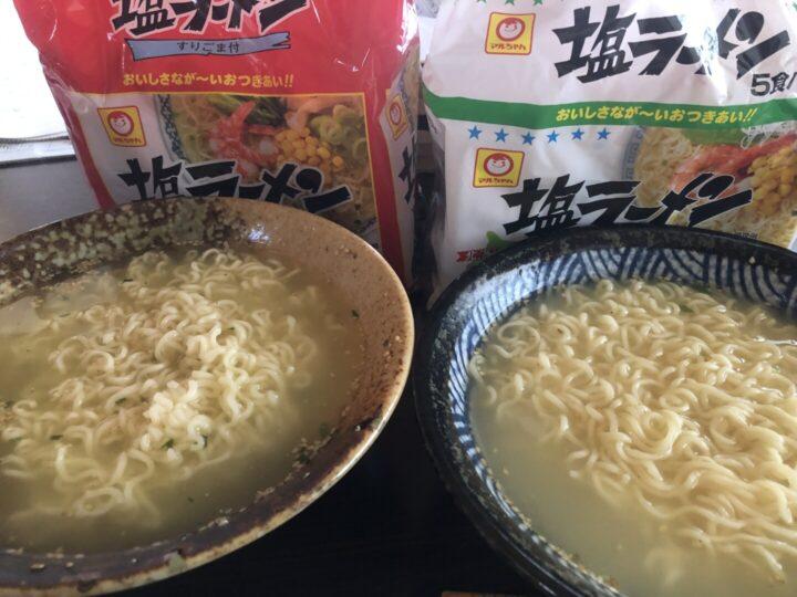マルちゃん塩ラーメン・完成品